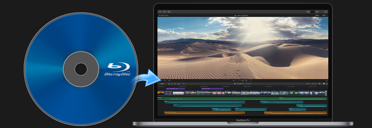 Import and edit Blu-ray in FCP X smoothly
