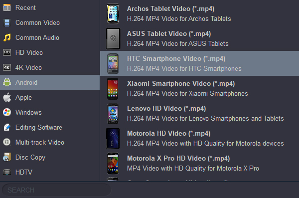 Convert MP4, AVI and MOV to HTC Desire 20 Pro supported format