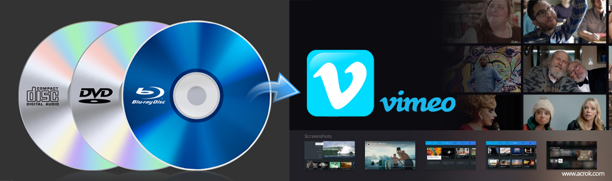 Simple way to upload Blu-ray clip to Vimeo